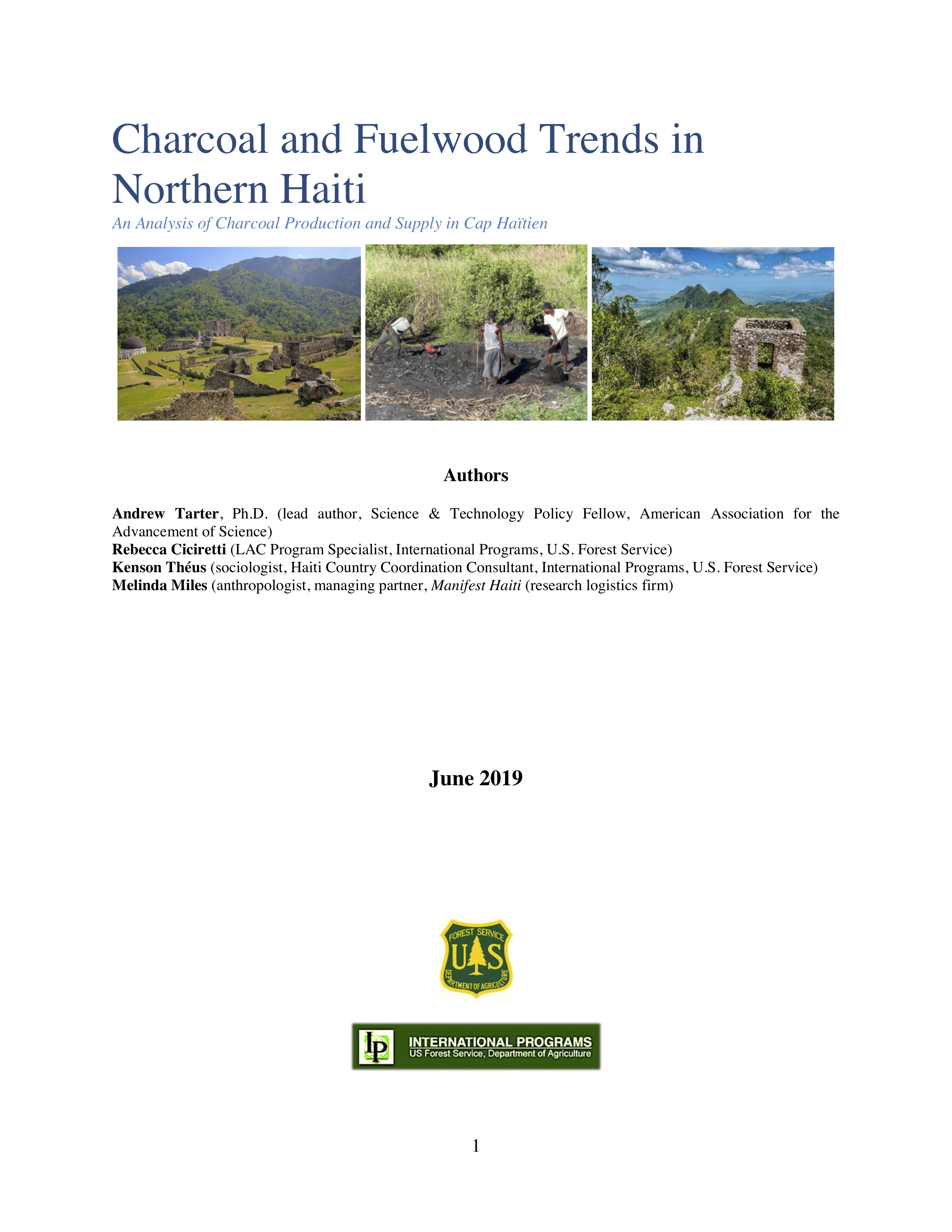 Andrew Tarter - Charcoal and Fuelwood Trends in Northern Haiti